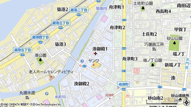 〒640-8286 和歌山県和歌山市湊御殿の地図