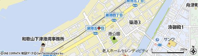 和歌山県和歌山市築港周辺の地図