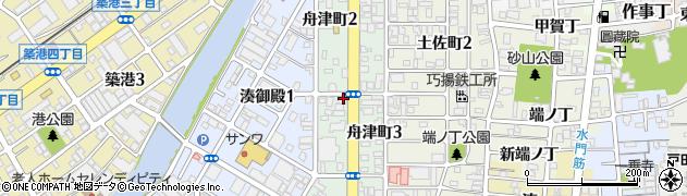 和歌山県和歌山市舟津町周辺の地図