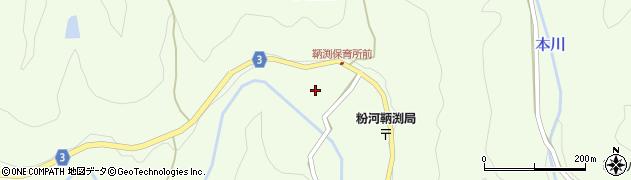 和歌山県紀の川市中鞆渕周辺の地図