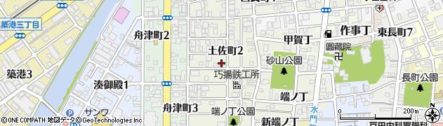 和歌山県和歌山市土佐町周辺の地図