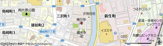 善行寺周辺の地図