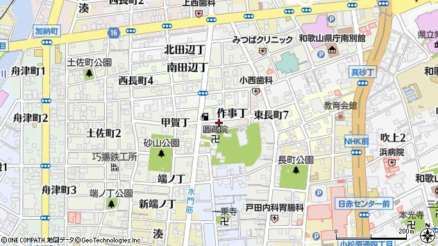 〒640-8276 和歌山県和歌山市作事丁の地図