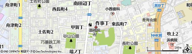 和歌山県和歌山市作事丁周辺の地図