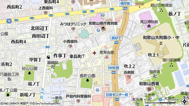 〒640-8263 和歌山県和歌山市茶屋ノ丁の地図