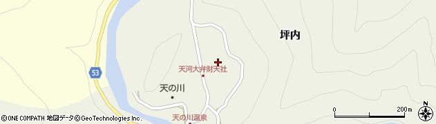 天河大弁財天社周辺の地図