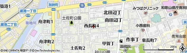 和歌山県和歌山市西長町周辺の地図