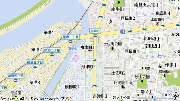 〒640-8255 和歌山県和歌山市舟津町の地図