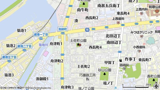 〒640-8256 和歌山県和歌山市土佐町の地図