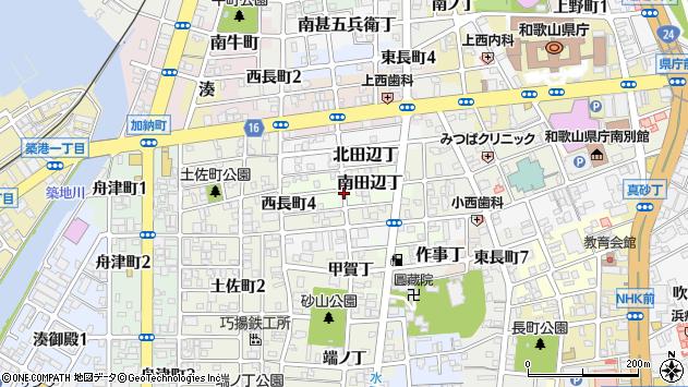 〒640-8254 和歌山県和歌山市南田辺丁の地図