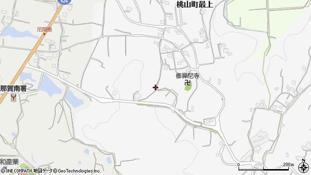 〒649-6111 和歌山県紀の川市桃山町最上の地図