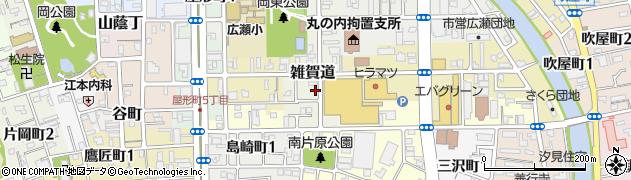 和歌山県和歌山市雑賀道周辺の地図