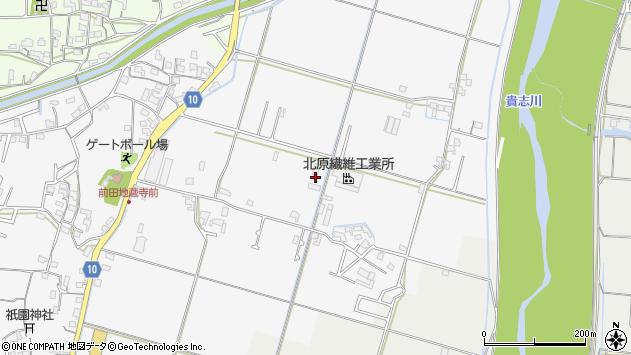 〒640-0411 和歌山県紀の川市貴志川町前田の地図