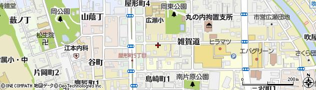 和歌山県和歌山市元町奉行丁周辺の地図