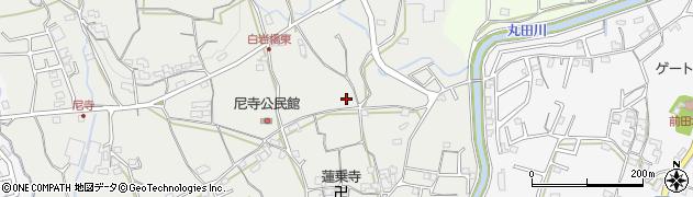 和歌山県紀の川市貴志川町尼寺周辺の地図