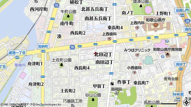 〒640-8252 和歌山県和歌山市北田辺丁の地図
