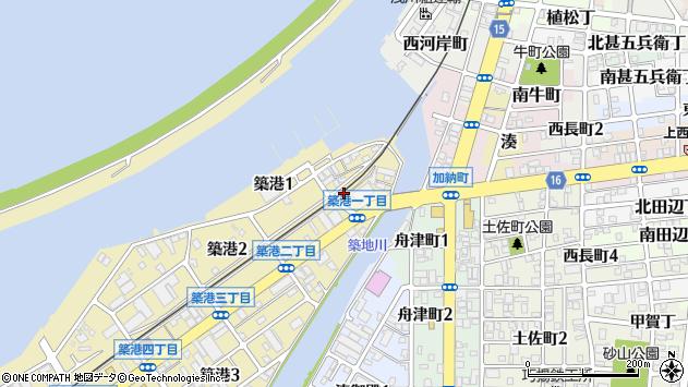 〒640-8287 和歌山県和歌山市築港の地図