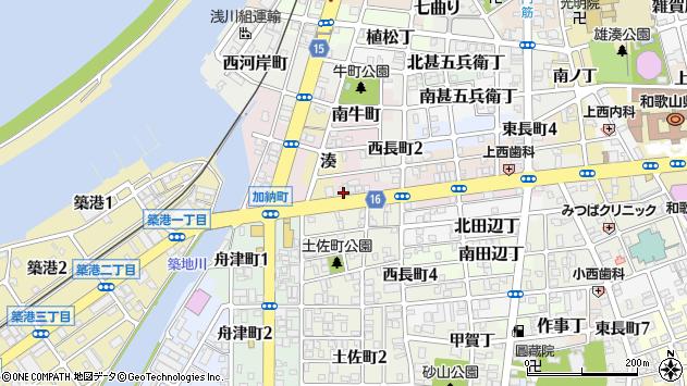 〒640-8296 和歌山県和歌山市北土佐丁の地図