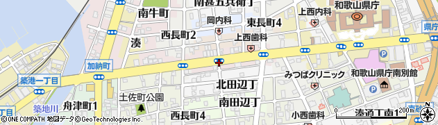 和歌山県和歌山市南中間町周辺の地図