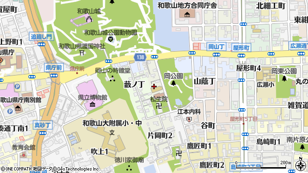 〒640-8139 和歌山県和歌山市片岡町の地図