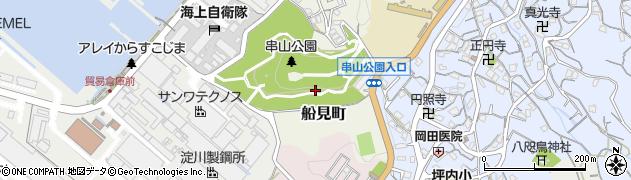 広島県呉市船見町周辺の地図