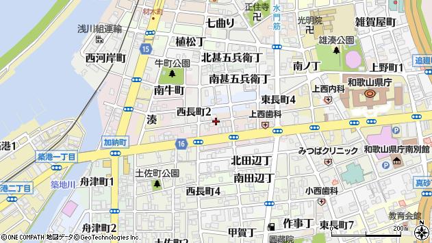 〒640-8294 和歌山県和歌山市北中間町の地図