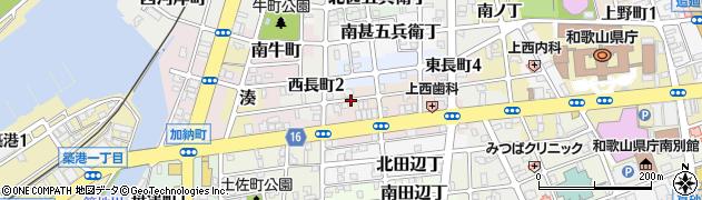 和歌山県和歌山市北中間町周辺の地図