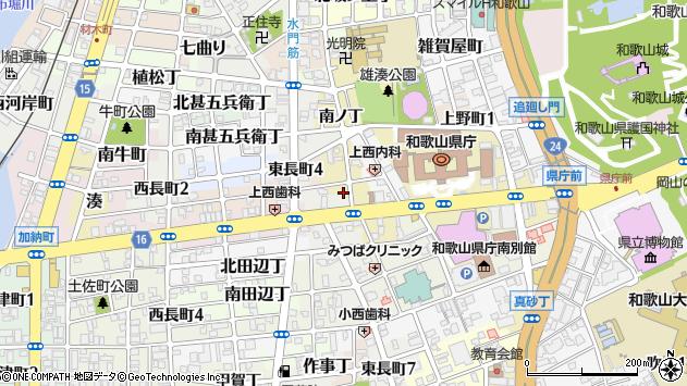 〒640-8244 和歌山県和歌山市久右衛門丁の地図