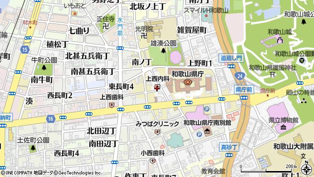 〒640-8243 和歌山県和歌山市徒町の地図