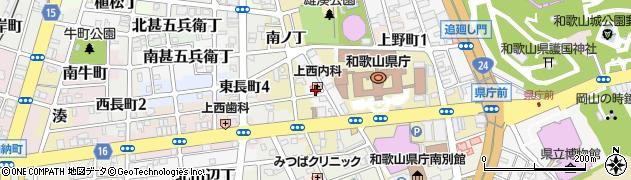 和歌山県和歌山市徒町周辺の地図