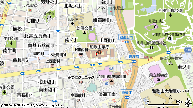 〒640-8269 和歌山県和歌山市小松原通の地図