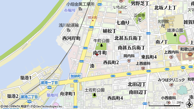 〒640-8295 和歌山県和歌山市南牛町の地図