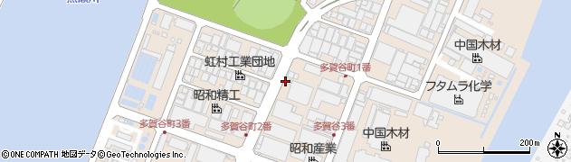 広島県呉市広多賀谷周辺の地図