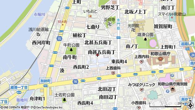 〒640-8292 和歌山県和歌山市南甚五兵衛丁の地図