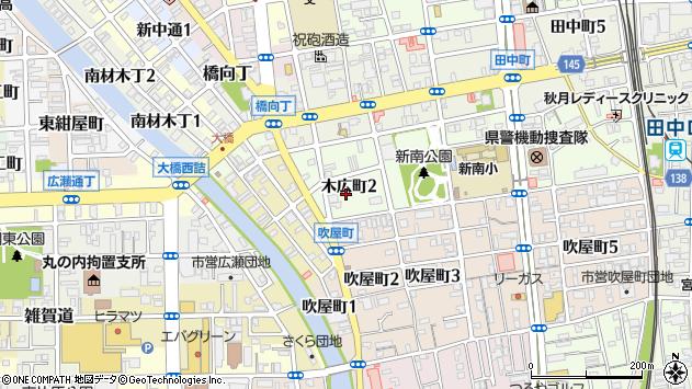〒640-8328 和歌山県和歌山市木広町の地図