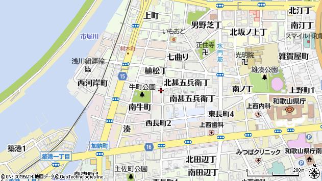 〒640-8290 和歌山県和歌山市西長町の地図