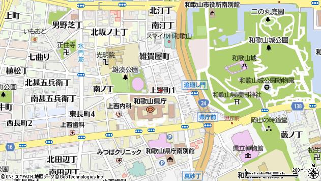 〒640-8242 和歌山県和歌山市上野町の地図