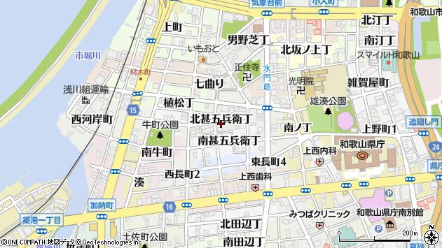 〒640-8291 和歌山県和歌山市北甚五兵衛丁の地図