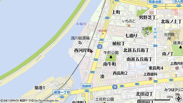〒640-8297 和歌山県和歌山市西河岸町の地図