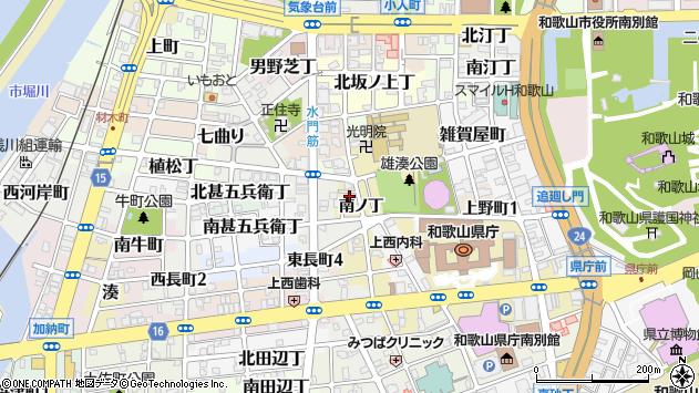 〒640-8245 和歌山県和歌山市有田屋町南ノ丁の地図