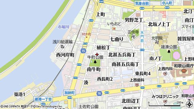 〒640-8299 和歌山県和歌山市北牛町の地図