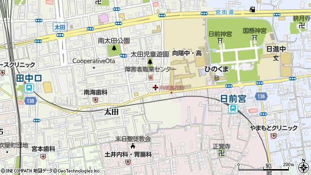 〒640-8323 和歌山県和歌山市太田の地図