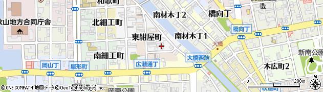 和歌山県和歌山市船場町周辺の地図