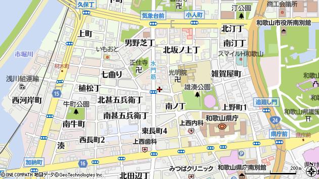 〒640-8246 和歌山県和歌山市有田屋町西ノ丁の地図
