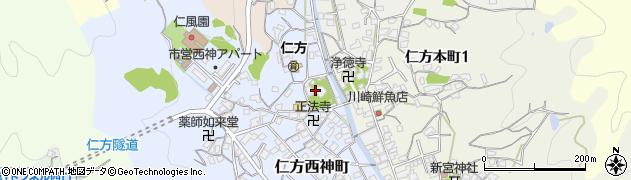 八岩華神社周辺の地図