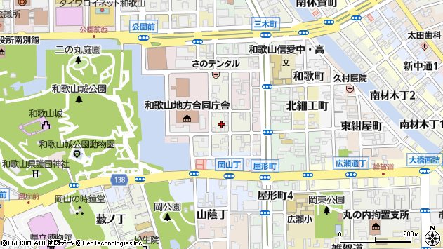 〒640-8142 和歌山県和歌山市三番丁の地図