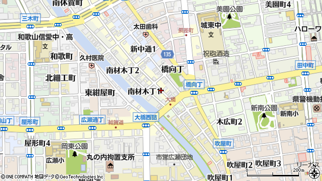 〒640-8111 和歌山県和歌山市新通の地図