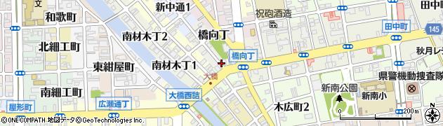 和歌山県和歌山市橋向丁周辺の地図