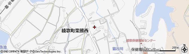 香川県丸亀市綾歌町栗熊西中落周辺の地図