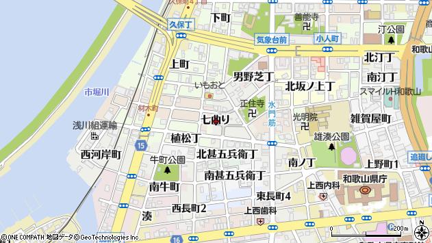 〒640-8236 和歌山県和歌山市七曲りの地図